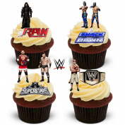 38 WWE Wrestling Stand Up Premium Edible Wafer Paper Cake Toppers Decorations