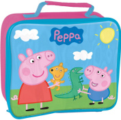 PEPPA PIG GEORGE KIDS INSULATED SCHOOL NURSERY LUNCH BOX SANDWICH COOL BAG PINK