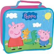 PEPPA PIG GEORGE KIDS INSULATED SCHOOL NURSERY LUNCH BOX SANDWICH COOL BAG PINK