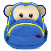 Kids Backpack, icci [Cute] Kids Backpacks Girls Boys Toddler Backpacks Best [School] [Hiking] [Travel] Sidekick Bags, Cute Monkey Pack Backpacks, Blue