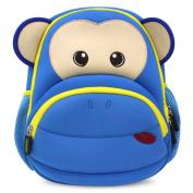 Kids Backpack, icci [Cute] Kids Backpacks Girls Boys Toddler Backpacks Best [School] [Hiking] [Travel] Sidekick Bags, Cute Monkey Pack Backpacks, Blue