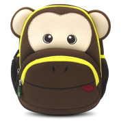Kids Backpack, icci [Cute] Kids Backpacks Girls Boys Toddler Backpacks Best [School] [Hiking] [Travel] Sidekick Bags, Cute Monkey Pack Backpacks, Coffee