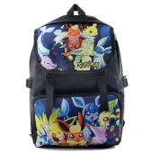 Bonamana Cartoon Pokemon Pikachu Backpack Anime School Bag Rucksack for Teens