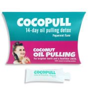 Aviva Pure - Coconut Oil Pulling for Whiter Teeth - Cocopull - 14 Oil Pulling Packets - Oil Pulling Oral Rinse Ayurvedic Cleansing Detox with Organic Peppermint Oil for Mouth and Teeth