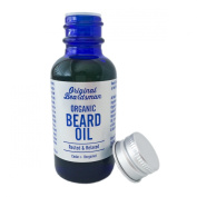 Best Beard Oil & Conditioner - Organic Jojoba & Argan with Cedar & Bergamot, Subtle Scent, Stop Itch, Eliminate Beard Dandruff, Soften Coarse Hair, Doesn't Clog Pores, Original Beardsman