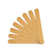 Huini 300 Count Salon Waxing Hair Removal Large Wooden Spatulas Wax Applicator 15cm x 1.9cm