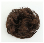 Coffee Synthetic Hair Scrunchie Hairpiece Updo Ponytail Holder by 24/7 store