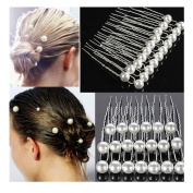 20PCS White Pearl Alloy Hairpins Wedding Bride Hair Accessories by 24/7 store