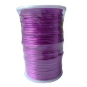 LanShi 2mm x 100 yards Rattail Satin Nylon Trim Cord Chinese Knot Purple