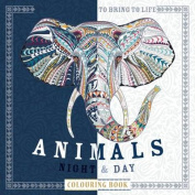 Animals: Night and Day Colouring Book