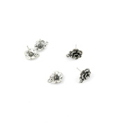 290 pcs Jewellery Making Charms Antique Ancient Silver Tone Findings Jewellery Charme Bulk Wholesale Supplies Supply 58026 Flower Earrings