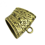 Pendant Scarf Retro Bronze Jewellery Scarf Accessories Slides Clasp Bails Tube