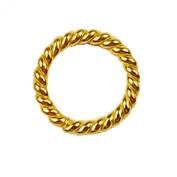 18K Gold Overlay Open Jump Ring JOG-102-7MM
