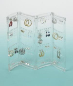 Home-X® Sectional Folding Earring Screen Holder. Clear