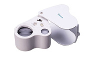 Eoncore Illuminated Jeweller's Eye Loupe Jewellery Magnifier Loupe Tool 30 & 60X with Led Lighting Unique 2 Lens Design