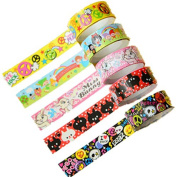 KitMax (TM) Pack of 30 Pcs Colourful Cartoon DIY Stationery Making Sticker Tapes Gift for Students Children, Colour May Vary