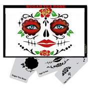 Face Painting Stencil - StencilEyes Sugar Tea Rose