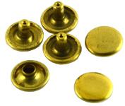 Okones 100Pcs 8Sizes 0.8cm Solid Brass Leathercraft Double Cap Rapid Rivets