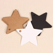 300pcs Star Kraft Paper Wedding Party Favour Price Gift Card Label Luggage Tags White Black Brown 3 Colours