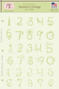 Fairytale Creations Season's Change Number Alphabet Stencil, 22cm L x 28cm H