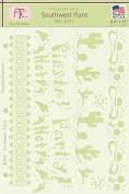 Fairytale Creations Southwest Flare Stencil, 22cm L x 28cm H