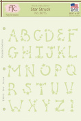Fairytale Creations Star Struck Alphabet Stencil, 22cm L x 28cm H