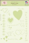 Fairytale Creations Sweet Love Stencil, 22cm L x 28cm H