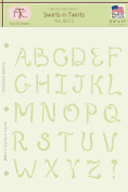 Fairytale Creations Swirls-n-Twirls Alphabet Stencil, 22cm L x 28cm H