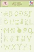 Fairytale Creations Winter Alphabet Stencil, 22cm L x 28cm H, White