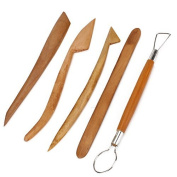 DN 20cm Wooden Clay Pottery Sculpting Pottery Tools Set Pack Of 5