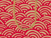 Gift Bag LuLu Rainbow Red Paper Gift Bag Sm 89462B1 by Caspari