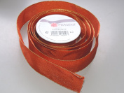 Prasent Orange Sparkle pattern 3.8cm . x 1.8m 100% Polyester Christmas Ribbon - Great for the Holiday Season!