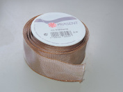 Prasent Gold Outlined pattern 3.8cm . x 1.8m 100% Polyester Christmas Ribbon - Great for the Holiday Season!