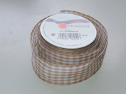 Prasent Checker pattern 3.8cm . x 1.8m 100% Polyester Christmas Ribbon - Great for the Holiday Season!