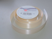 Prasent Ivory Sheen pattern 2.2cm . x 3m 100% Polyester Christmas Ribbon - Great for the Holiday Season!