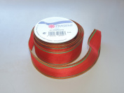 Prasent Green stripe pattern 3.8cm . x 1.8m 100% Polyester Christmas Ribbon - Great for the Holiday Season!