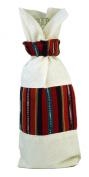 Handmade Guatemalan Wine Gift Bag - Autumn Hues
