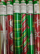 6 Rolls Red/Green Metallized Christmas Wrapping Paper