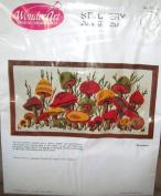 WonderArt Mushrooms Stitchery - 50cm x 25cm #5100