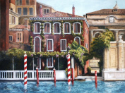 Oil Painting Print of Venice Canal Mansion -11x14, Painted by Stewart Huntington