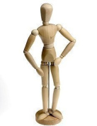 Loxley Artists Wooden Lay Figure Manikin 30cm Bendy Man