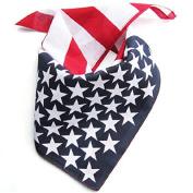 American Flag Bandana / American Flag Headband / Can Use As Neck Tie / Mask Napkin / July 4th Accessories 50cm X 50cm