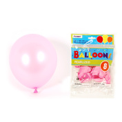 Flomo BL812 30cm . Pink Pearlized Balloons - 8 Count, Case of 36