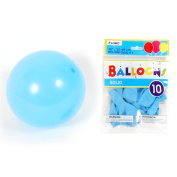 Flomo BL07 30cm . Solid Colour Pastel Blue Balloons - 10 Count, Case of 36