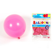Flomo BL05 30cm . Solid Colour Hot Pink Balloons - 10 Count, Case of 36