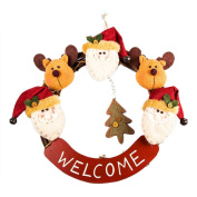 Binmer(TM)Luxury Merry Christmas Party RED Poinsettia Pine Wreath Door Wall Decoration red