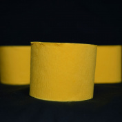 Quasimoon Yellow Crepe Paper Streamer Party Decorations (60m Total, 3 Pack) by PaperLanternStore