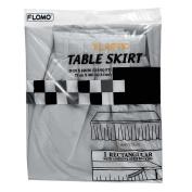 Flomo TK517 70cm x 430cm . Silver Table Skirt Case of 36
