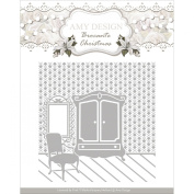 Find It Trading Amy Design Embossing Folder-Brocante Christmas