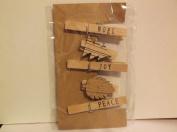5 Piece *Christmas* Decorative Clothespins